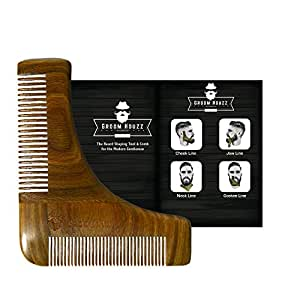 sandalwood beard shaping tool comb by groom houzz beards shaper styling. Black Bedroom Furniture Sets. Home Design Ideas