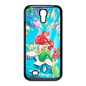 Samsung Galaxy S4 9500 Cell Phone Case Black The Little Mermaid Character Ariel Slch