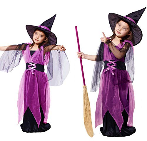 JIKF-shirt Halloween Costume for Kids Vampire Witch Princess Kids Children Fancy Dress Costume A L ()