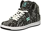 DC Women's Pure High-Top TX SE Skate Shoe, Charcoal/White, 7.5 Medium US