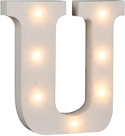 1/W Out of the Blue LED Madera de letra color blanco 16/x 3/x 16/cm