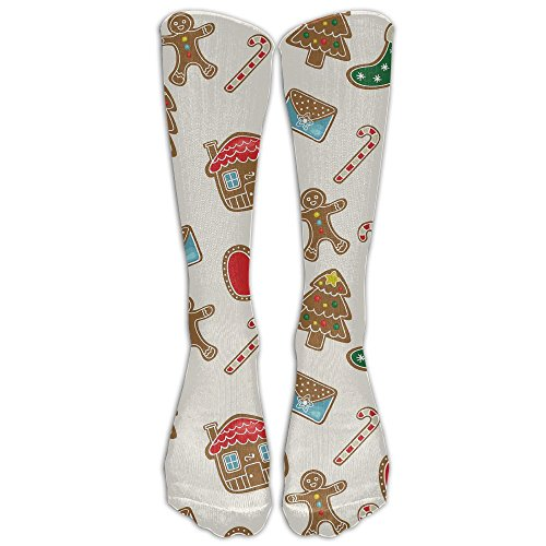 CQXIN Christmas Cookies Football High Socks Athletic Tube Stockings (Halloween Cookies Target)