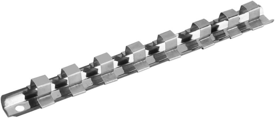 """Socket Rack Support 1//4/"""" 3//8/"""" 1//2/"""" avec 8 Clips sur rail Outil Rangement"""