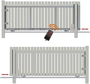 Bauer – Puerta corredera (alto=120, ancho=280, con accionamiento), Plateado: Amazon.es: Bricolaje y herramientas