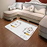 YOLIYANA Modern Carpet,Educational,for Living Room Bathroom,55.12'' x78.74'',Series and Parallel Circuits Voltage Electric