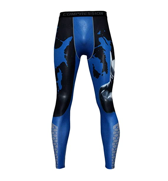 267385637b02 Jogginghose Herren Kompression Schnelltrocknend Leggings Mode Casual  Fitness Outdoor Sports Running Workout Drucken Skinny Hose Radlerhose