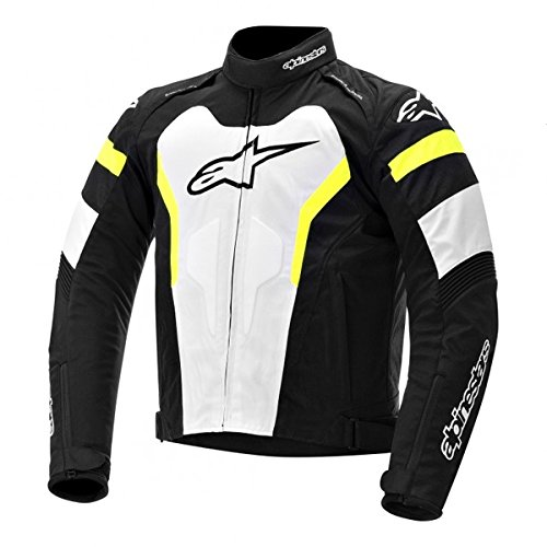 Alpinestars GP Pro Leather Jacket, Gender: Mens/Unisex, Primary Color: Black, Size: 58, Apparel Material: Leather, Distinct Name: Black/White/Yellow 3105014-125-58