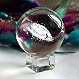 Powstro 3D Laser Engraved Crystal Ball, Galaxy