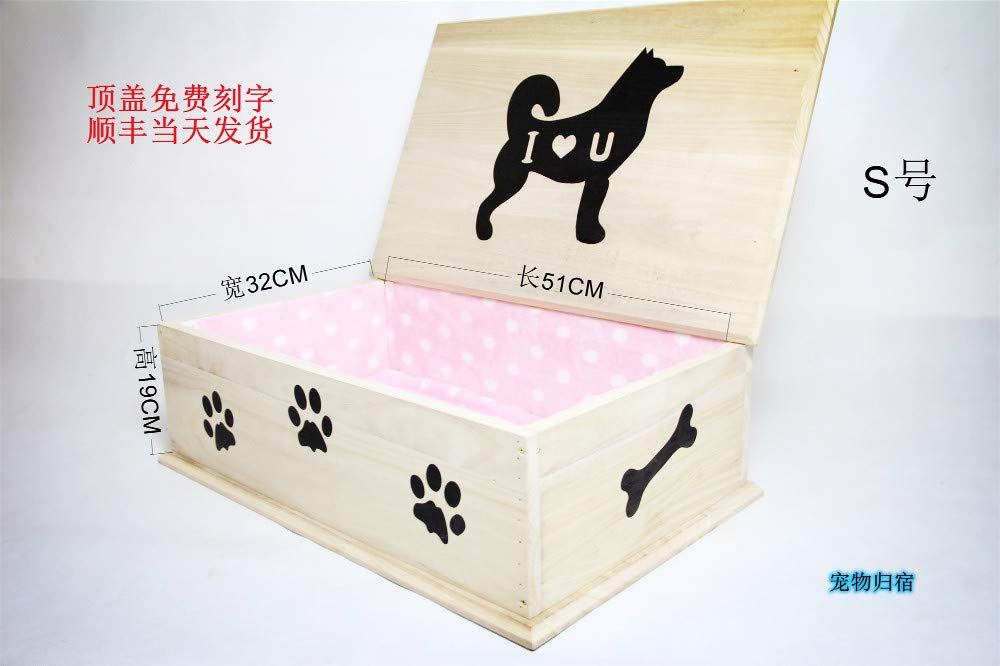 C Winpavo Urn Cremation Keepsake Ashes Urns Pet Coffin Dog Coffin Cat Coffin Cat Dog Urn Box Pet Funeral Supplies, C