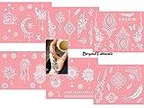 (US) Reusable Micronet Mesh Stencil Tattoo Stencil Template 6 Large Sheet Set Pink
