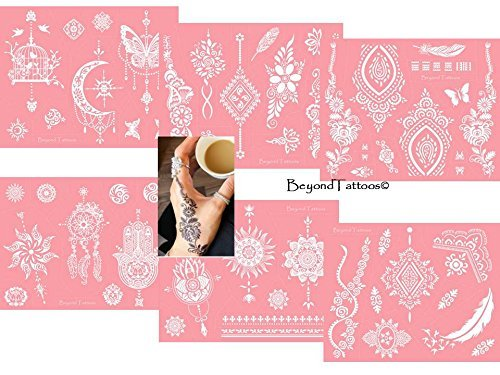 Reusable Micronet Mesh Stencil Tattoo Stencil Template 6 Large Sheet Set Pink by TIE (Image #9)