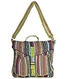 Cotton canvas bohemian hippie messenger bag-Olive-One size