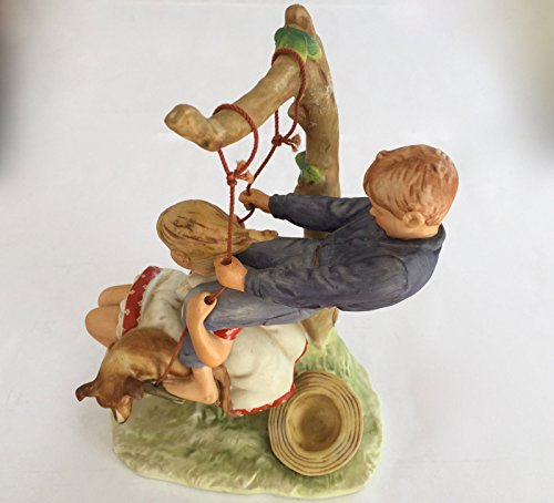 "Gorham Collectors Society, Norman Rockwell Figurine in Fine Bone China ""Flying High"""