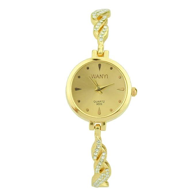Relojes❤️Reloj de Pulsera de Mujer con Diamantes de Campanas de Moda Pulsera Actividad Relojes Deportivos BBestseller (Amarillo): Amazon.es: Ropa y ...