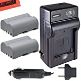 Pack Of 2 EN-EL3e Batteries And Battery Charger for Nikon D90 D200 D300 D300S D700 Digital SLR Camera + More!!