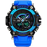 2018 Updated LED Big Face Waterproof Sports Watch, Analog Digital Luminous Stopwatch Military Watch