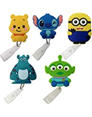 Cartoon Retractable Badge Reel - Holder for ID and Name Tag with Belt Clip, Great Gift for Nurse and Medical Workers, Cute ID Holders for Nursing School Student, RN, or CNA