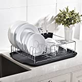 SOTTAE Modern Steel Rust Proof Kitchen Draining Dish Drying Rack DrainBoard And Dish
