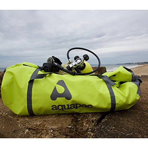 AQUAPAC Wasserdichte Reise und Sporttasche Trail-Proof Duffel, Acid Green/Cool Grey, 91.0 x 35.0 x 35.0 cm, 90 Liter, 725
