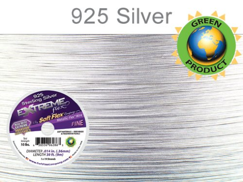 (Soft Flex Extreme Sterling Silver Beading Wire .014