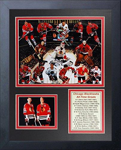Legends Never Die NHL Chicago Blackhawks Greats Framed Photo Collage, 12