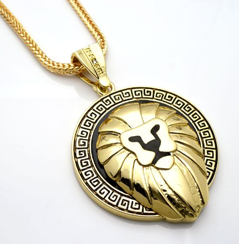 one Lion Head Pendant Necklace free 36