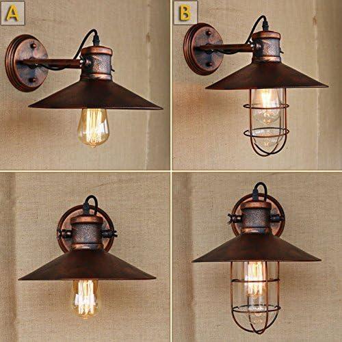 LWYJRBD Applique Murale/Rouille balançoire tête Lampe Murale ...