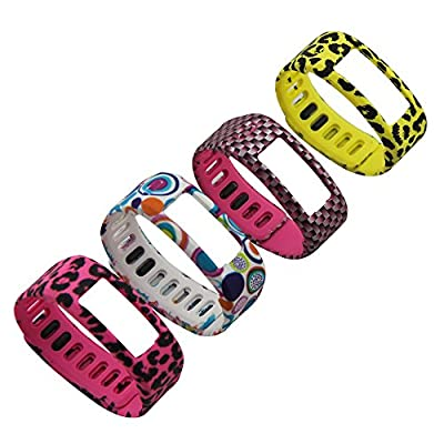 X-TECH Replacement Bands with Plastic Clasps for Garmin Vivofit(No tracker, Replacement Bands Only)