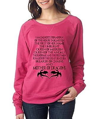 Allntrends Women's Long Sleeve Shirt Deanerys Targaryen Mother of Dragons