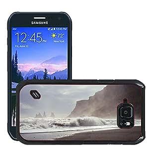 Just Phone Cases Etui Housse Coque de Protection Cover Rigide pour // M00421740 La resaca de la orilla del mar del // Samsung Galaxy S6 Active SM-G890 (Not Fit S6)
