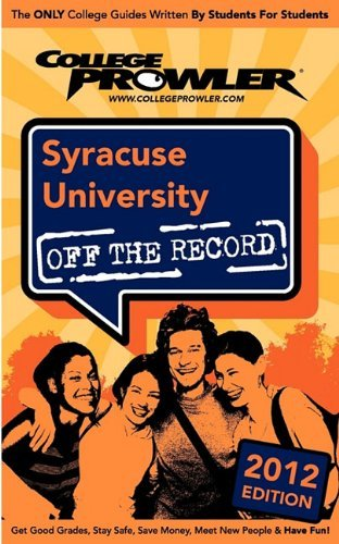 Syracuse University 2012: Off the Record by Yong Marshal Krakauer Steve (2011-03-15) Paperback