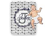 Personalized Baby Blanket Boy Monogram Arrows