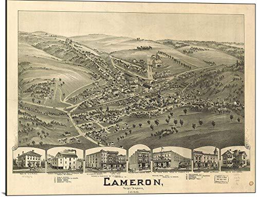 (Cameron West Virginia 1899 Map Print on Wood)