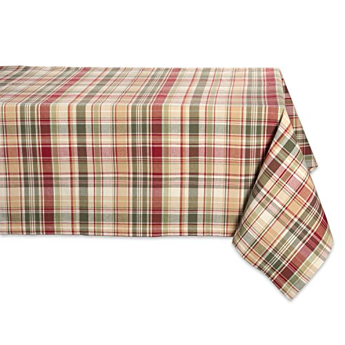 Cabin Plaid Square Tablecloth, 100% Cotton with 1/2