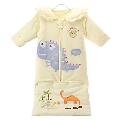 Babao Saco De Dormir Extraíble para Bebés Mangas Largas Niños Anti Kick Algodón Saco De Dormir Infantil: Amazon.es: Ropa y accesorios