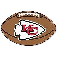 FANMATS NFL Kansas City Chiefs Nylon Face Football Rug