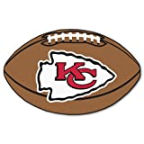 FANMATS NFL Kansas City Chiefs Nylon Face Football Rug