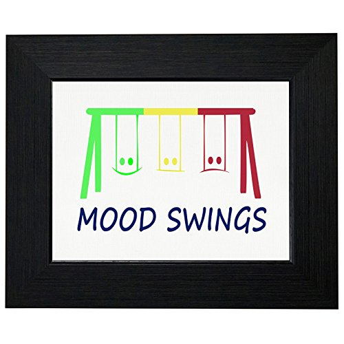 Mood Swings - Colorful Swing Set Graphic Framed Print Poster Wall or Desk Mount Options