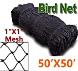 1'' Square Mesh Size Bird Netting to Protect Fruit Trees, Bushes & Vegetables from Hungry Birds, 25x50,50x50,50x100 Garden Netting Protects Gardens from Chickens & Poultry (1mesh-50x50)