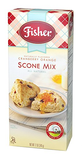 Fisher Cranberry Orange Fair Scone Mix, 12-Ounce Boxes (Pack of 6)
