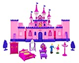 Toy Castle My Dream 'Princess Wedding' Toy Doll Playset w/ Prince and Princess Figures Horse Carriage, Castle Play House, Furniture, Accessories, Children's Dollhouse