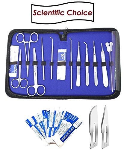 Dissecting Instruments - Dissection Kit - Full 23 Scalpel Blades with Surgical Kit for Dissecting Surgery Kit Ideal for Surgical Instruments