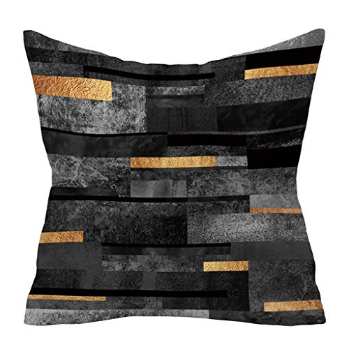 (Throw Pillow Covers, Jessie storee Abstract Geometric Hug Pillowcase Pillowslip Sofa Office Car Sofa Pillow Blue Marbled Smoked Gradient Cube Pillow Backrest 18x18 Inch 45x45 cm, L)