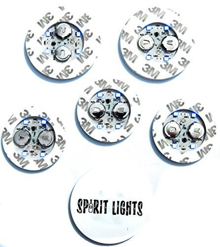 LED-BOTTLE-GLORIFIER-BAR-DISPLAY-GLOW-SPIRITS-WINE-LIGHT-UP-STICKER-VIP-6-PACK-MINI-GLOWER (Blue)