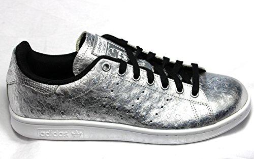 adidas Stan Smith, Sandalias con Plataforma Unisex, Blanco, 4.5 EU Plateado/Blanco (SILVMT/SILVMT/FTWWHT AQ4706)