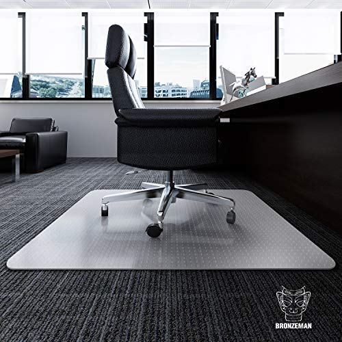 "Desk Chair Mat for Carpet - Heavy Duty | Unbreakable Vinyl Floor Protector for Low-Pile Carpet,Thick 48"" X 36"" Rectangular Non-Slip Bottom, Home, Office, Computer"