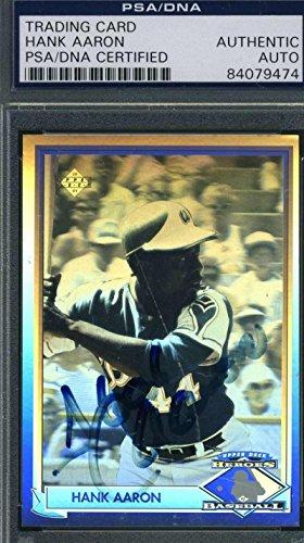 HANK AARON 1991 UPPER DECK COA Autograph Authentic Hand Signed - PSA/DNA Certified - Upper Deck Baseball Cards