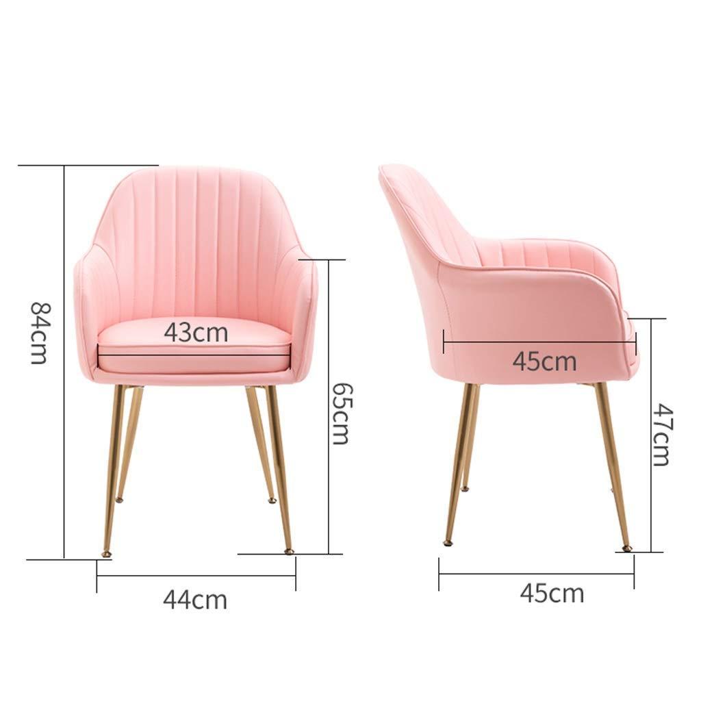 XBSLJ hopfällbar golvstol köksstol matstol slitstark läderryggstöd förgylld halkfri fot kontorsstol sovrum kaffestol dator stol sminkstol kostym (färg: L) K