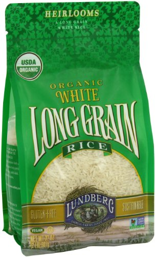 Lundberg Organic Long Grain Rice, White, 32 Ounce (Pack of