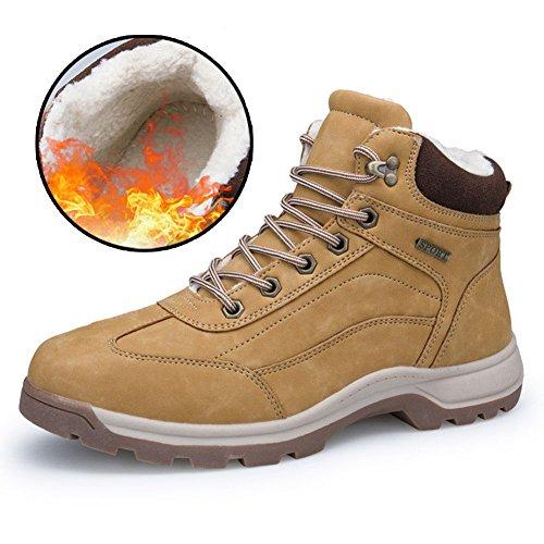 1 Stivali Scarpe da Escursionismo All'aperto Scarpe Uomo ZENGVEE da da Passeggio Impermeabili Uomo Braun Invernali Gelb q5gnxxSwCZ